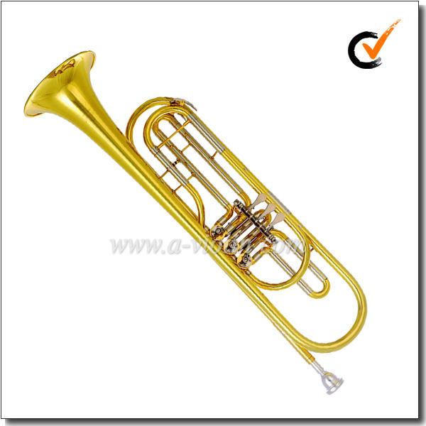 Amarillo acabado de <span class=keywords><strong>latón</strong></span> tudel lacado Bb trompeta clave bass(TP8900)