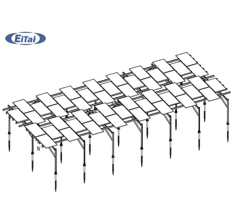 GTB-57 Солнечная ракетка земля предварительно сборка солнечные кронштейны алюминиевая солнечная панель крепление рельса