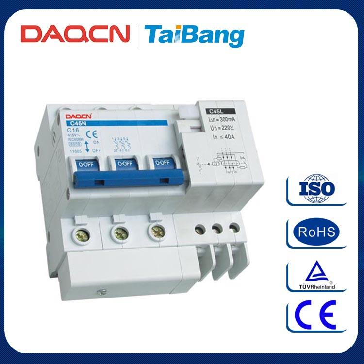 DAQCN Gute Qualität C45LE 3 P Elektronische Typ Fehlerstromschutzschalter Leistungsschalter
