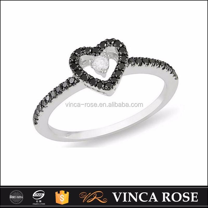 En gros Allemand anneau 925 en argent sterling zircon articles avec la conception de coeur