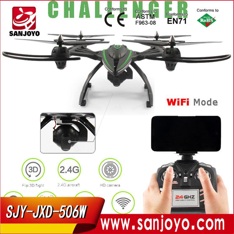 JXD 506 Watt Wifi FPV Mit 2MP Kamera Headless Modus Luftpresse Höhe Halten <span class=keywords><strong>RC</strong></span> Quadcopter <span class=keywords><strong>RTF</strong></span> 2,4 GHz