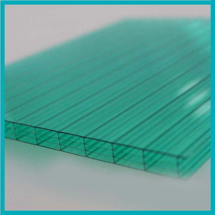 Зеленый Ясно, Хорошая Цена 16 Мм Четыре Щит Стены Поликарбонатный Лист