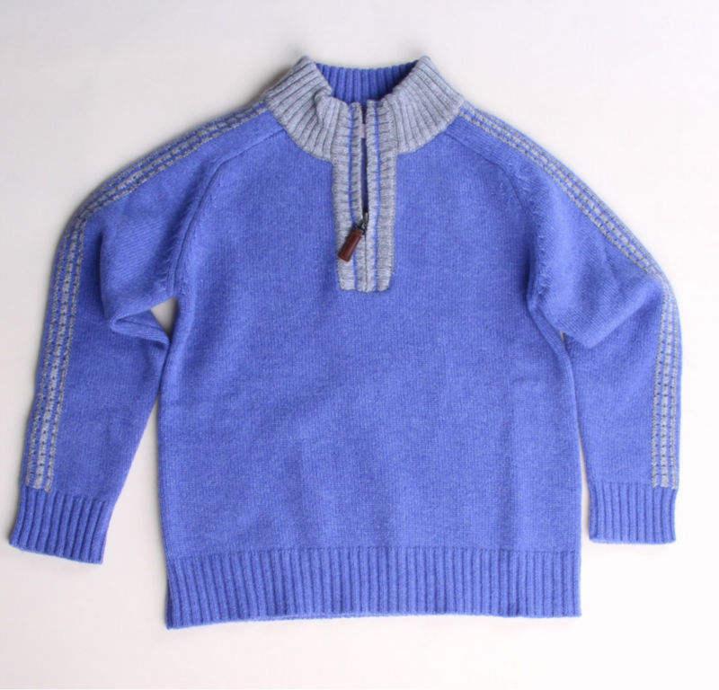Дети мягкий шерсть / кашемир трикотаж свитер стоять ошейник с половиной молнии