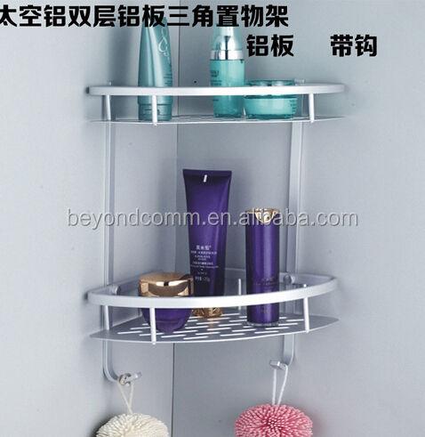 Baño de aluminio espacio higiénico estante tres triangular cesto esquina engrosada placa de aluminio