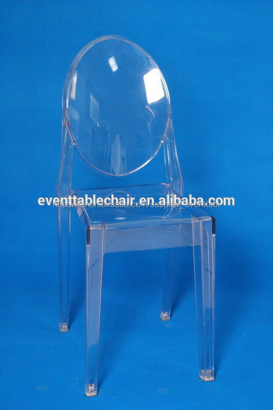 Empilable chaise en <span class=keywords><strong>résine</strong></span> fantômes. discount