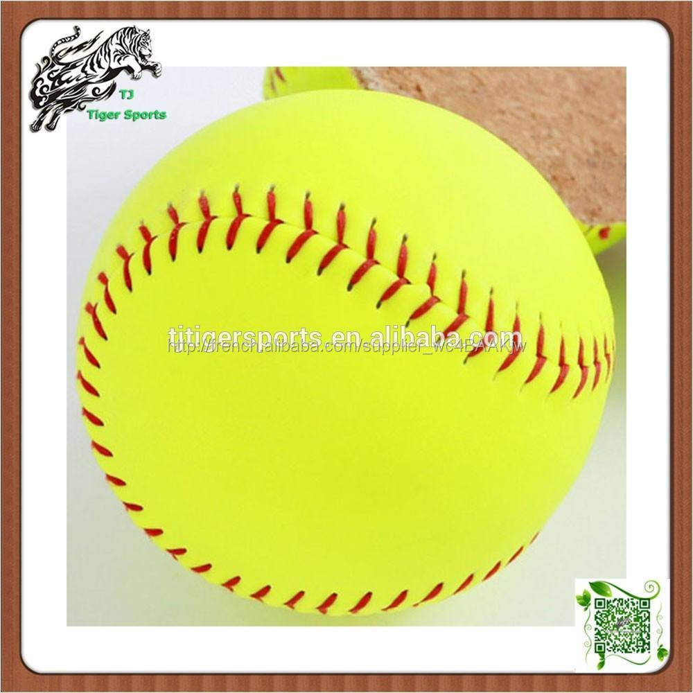 Softballs 12 pouces professionnel personnalisé <span class=keywords><strong>Fastpitch</strong></span> slowpitch Softballs col certificat