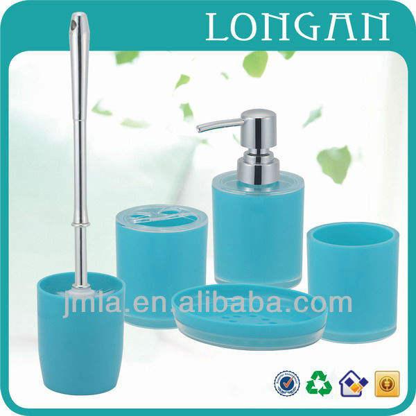 Hot venta Juego de accesorios del baño de 5 piezas fabricado en crílico