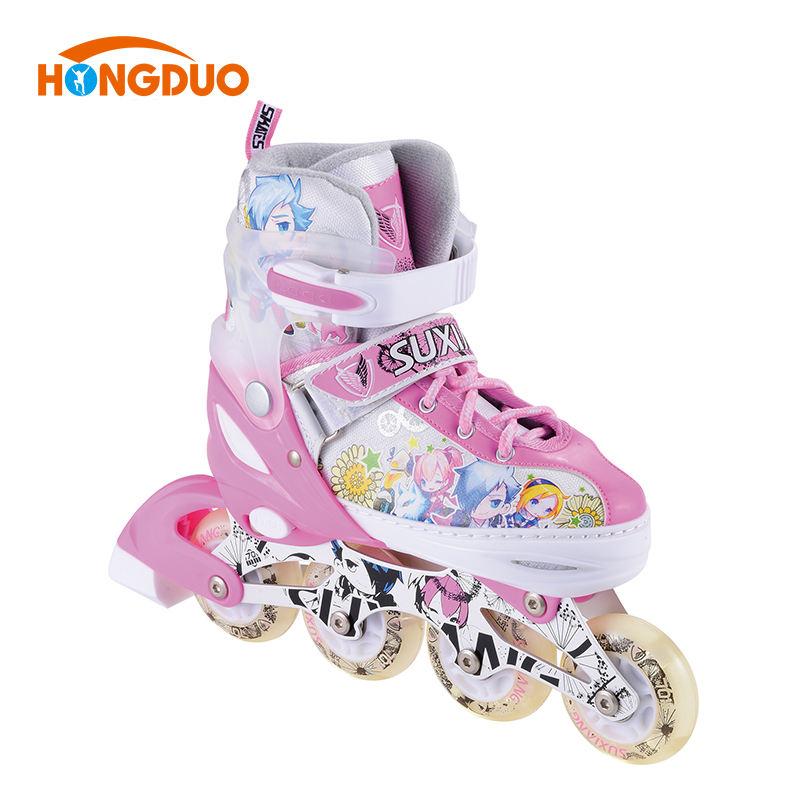 調整可能な四輪インライン中国大豆クワッド屋外ローラースケートインライン靴女性が製造する
