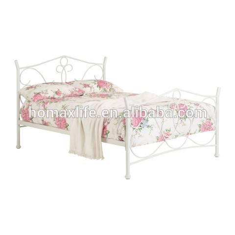 المعادن/ بيضاء لامعة db-4746 سرير الحديد