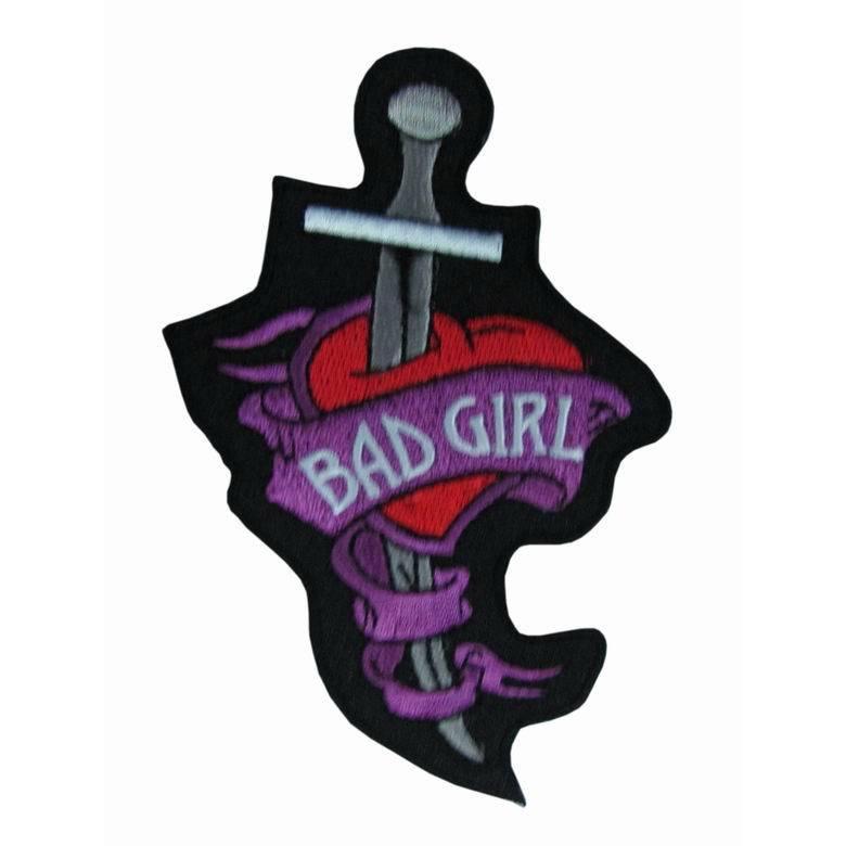 ricamato ragazza cattiva patch emblema distintivo