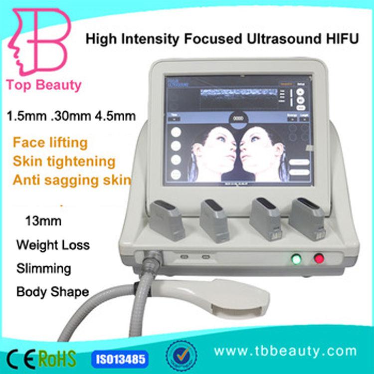 2015 venda quente ultrassons de alta intensidade HIFU tecnologia HIFU máquina facelifting portátil beleza equipamentos