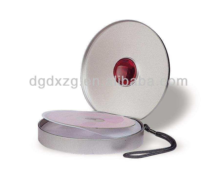 круглый cd случае с рукавом
