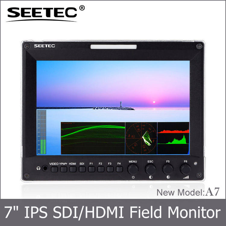 7 pulgadas IPS 1280*800 equipos de transmisión de campo 3g-sdi monitor cámara <span class=keywords><strong>jib</strong></span> crane