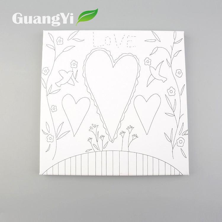 Decorativas al por mayor Flor del patrón del corazón diseña la tela pintura sobre lienzo
