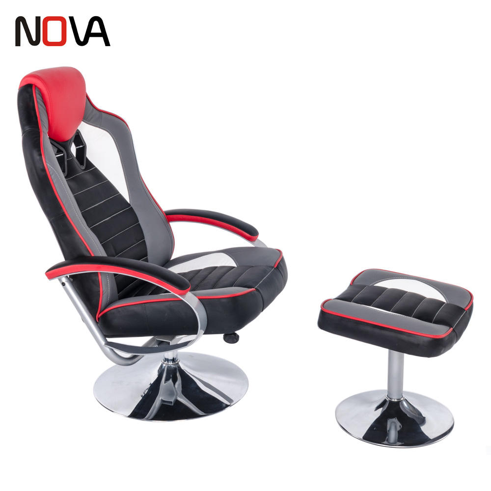 NOVA Pro Vídeo Gaming Relaxar e Balanço Esporte série De Aço Cadeira de Assento de Carro