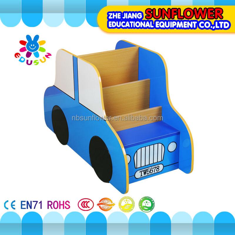Детские шкафы для хранения деревянный автомобиль формы обучения детей игрушки детская книжная <span class=keywords><strong>полка</strong></span>