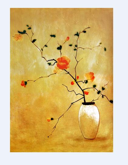 Venta caliente clásica flor de dibujo sobre lienzo, personalizado arte de la pared para la decoración casera