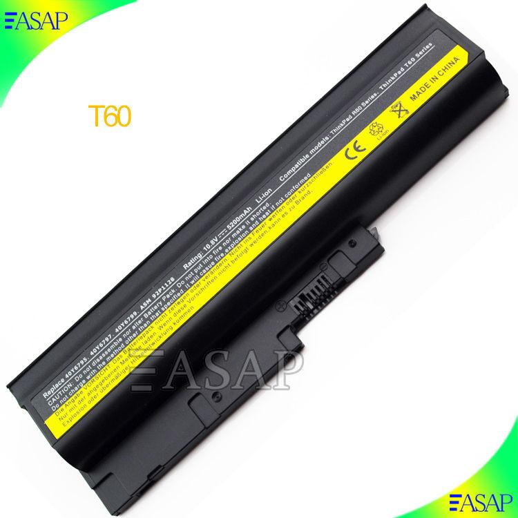 """교체 배터리 레노버 씽크 패드 T60 t60p t61 t61p z60m 14.1"""" 표준 화면"""