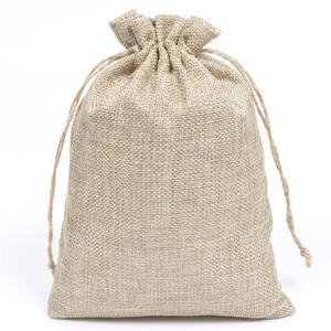 "16/"" x 25/""-Gunny Sack Race Bags 3 Burlap Bags with Natural Jute Tie string"