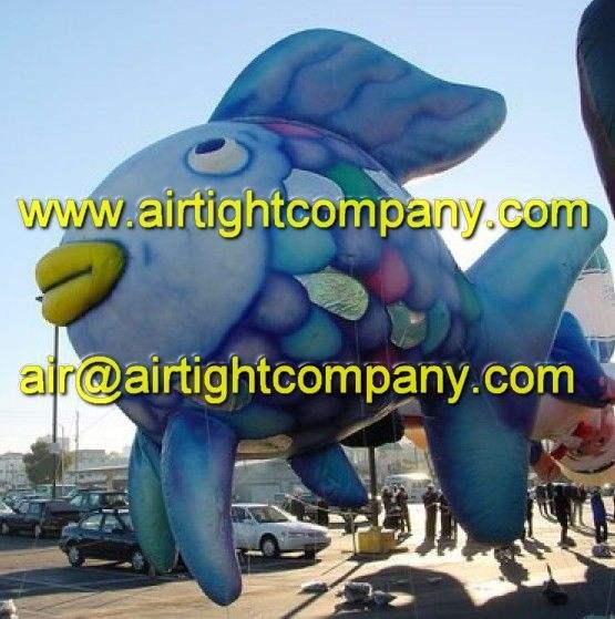 Peces globo inflable de encargo, Publicidad globo de helio de pescado