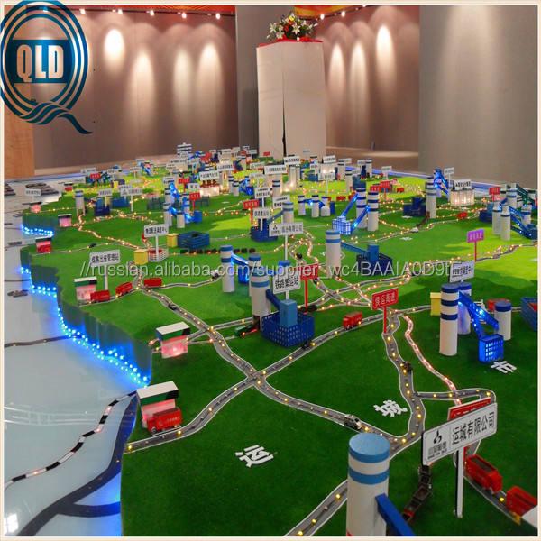 3 D планирование серайсез / городские и город планирование модель с хорошим landsape / master планирование модели производителя