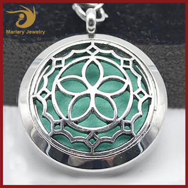 Difusor de Aroma Colgante, Collar de La <span class=keywords><strong>Joyería</strong></span> Medallón de Aromaterapia, de Collar de Aceite Esencial Del Difusor