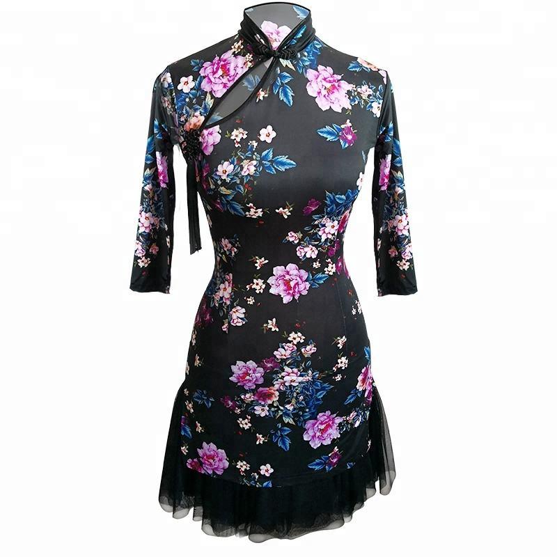 Nueva slim fit chino vintage cheongsam estilo latina profesional traje de tul de ASOS