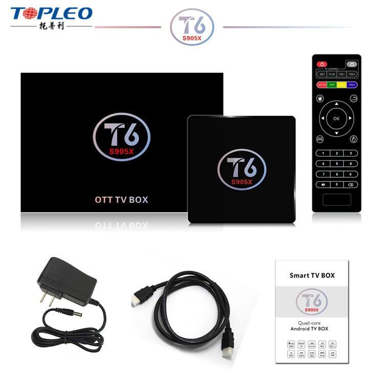 O Projeto quente global set top box wi-fi IEEE 802.11 b/g/n KODI 17.1 com T6 de baixar o manual do usuário para android tv caixa