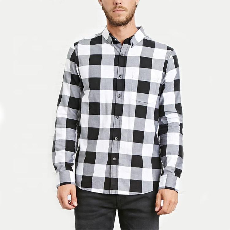 Оптовая продажа Новый пользовательский для мужчин пледы последние дизайн рубашки с длинными рукавами