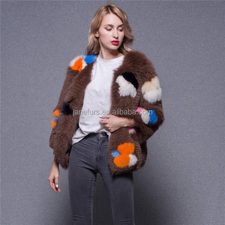 2018 nuevo patrón chaqueta de moda OEM Real Finlandia abrigo de piel de zorro