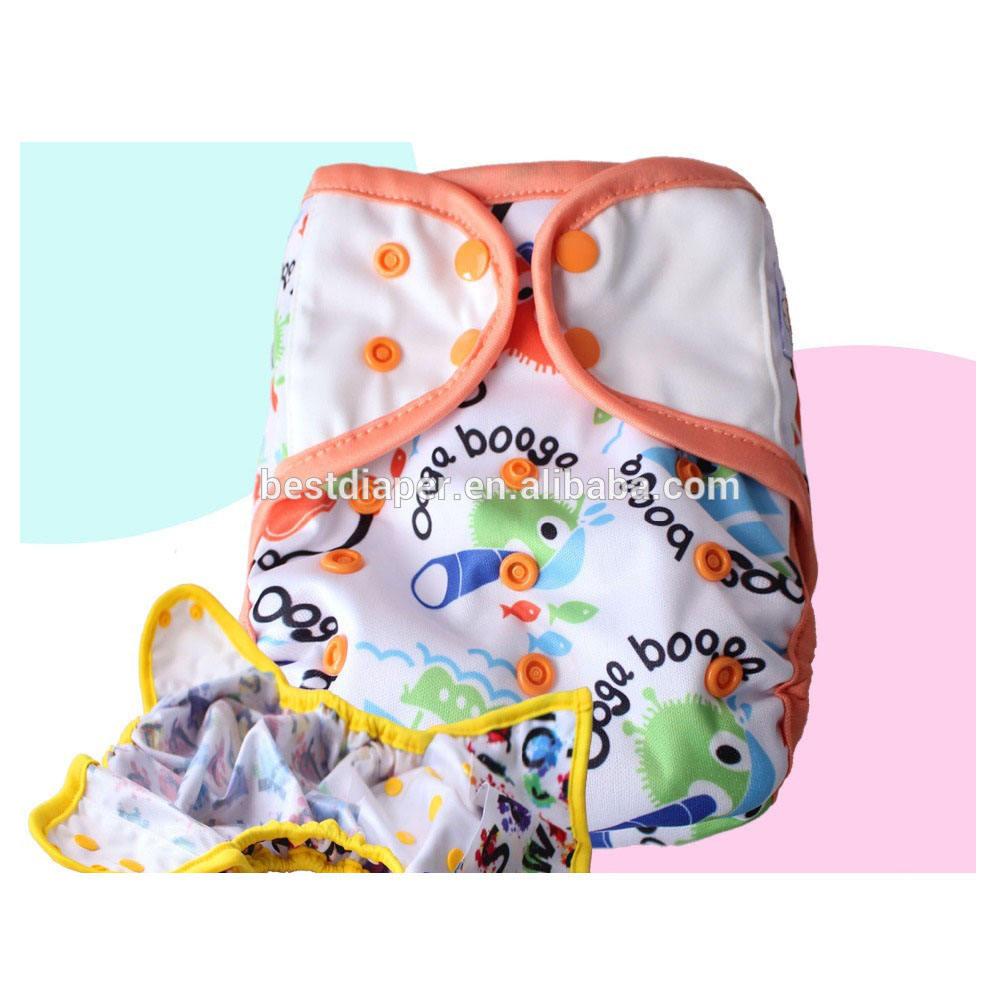Heureux flûte 2017 gros Polyester Personnage de Dessin Animé Imperméable bébé diaper cover