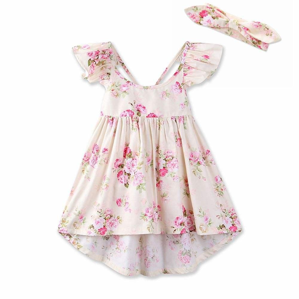 Мечта Колыбель 2018 Новое поступление спинки оборками из хлопка с цветочным рисунком платья для девочек