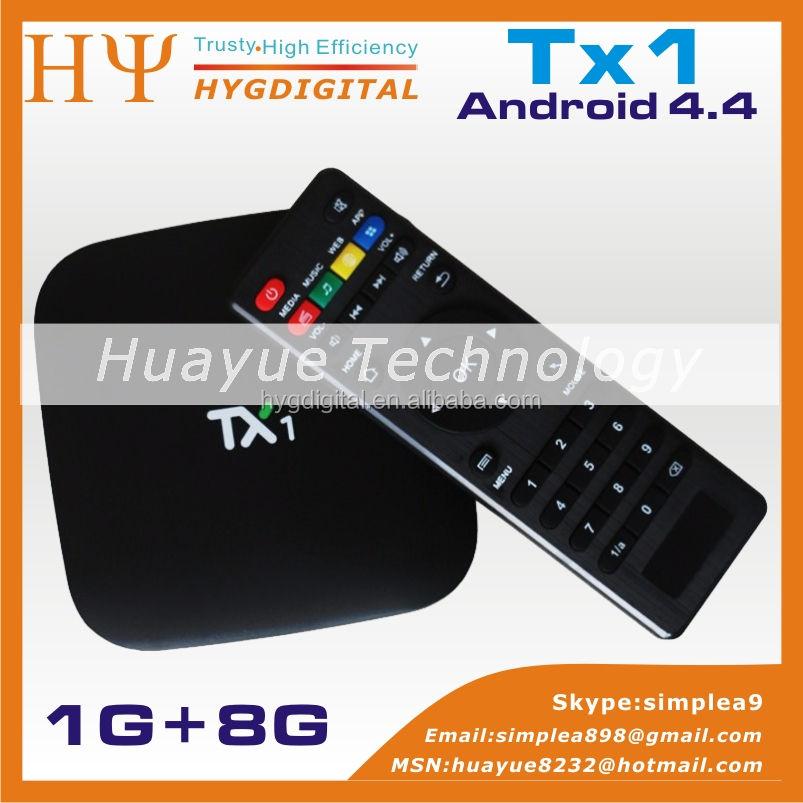 [Genuine] TX1 Android 4.4. Caixa De TV Amlogic S805 Quad Core 1G + 8G Suporte KODI Media Player Smart TV Box XBMC