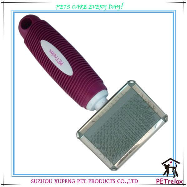 (S) uesful taille petite poignée de couleur en option pour animaux de compagnie brosse de toilettage pour chien à l'exportation
