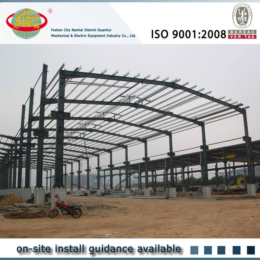 Gran luz de cálculo edificio de la fábrica de prefabricados ligeros (X056)