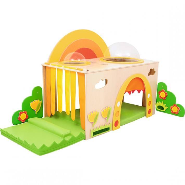 Mobília de madeira contínua de Montessori do equipamento quente do campo de jogos do jardim de infância