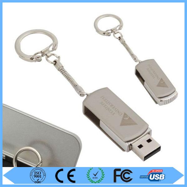 Comercio al por mayor giratoria de metal unidad <span class=keywords><strong>flash</strong></span> usb promocional