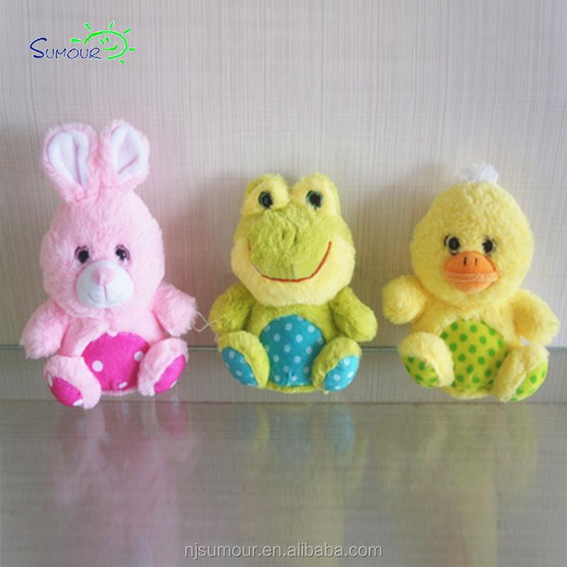 Más Popular personalizada Pascua color rosa animal <span class=keywords><strong>conejo</strong></span> de peluche de juguete regalos