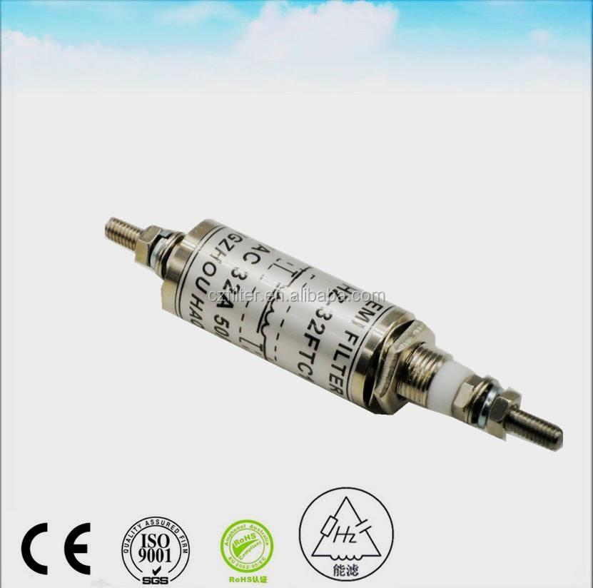 производство, 250 В Переменный Ток 30 А проходной emi фильтр