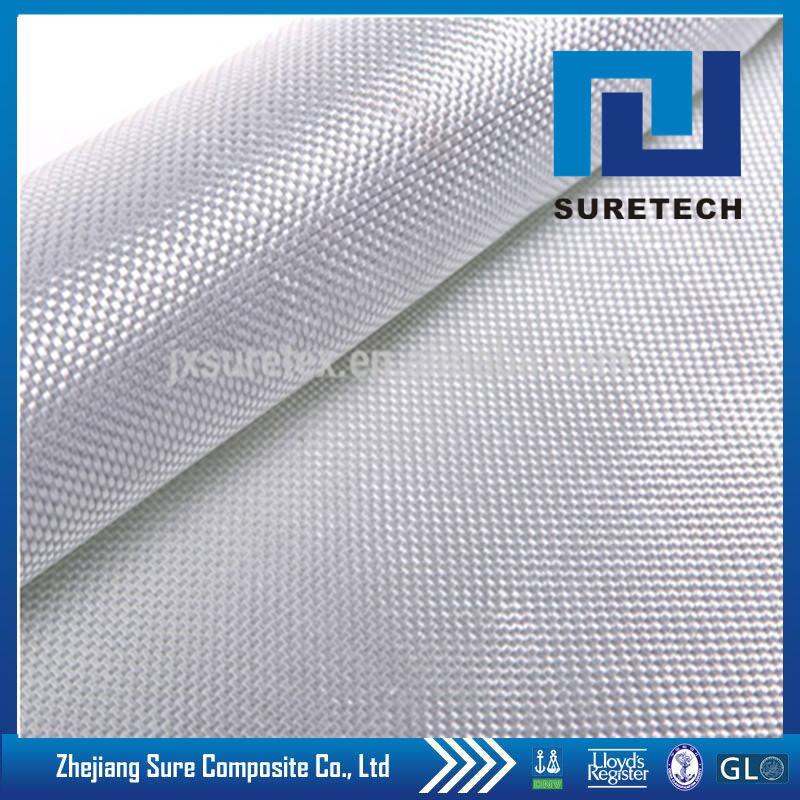 Plaine/Sergé/Satin tissage tissu en fiber de verre, 120g-180g