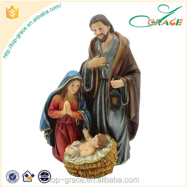 Decorativa religiosa resina Natal presépios