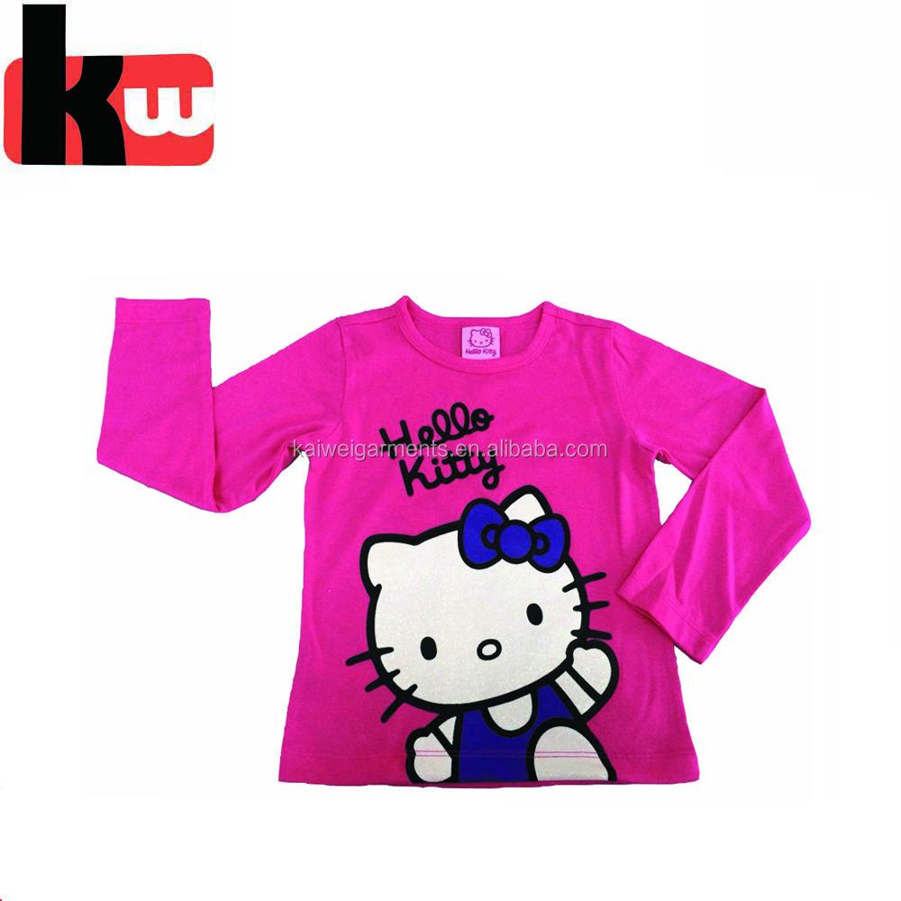 Футболка для девочек футболки, Оптовая детская бутик ткань