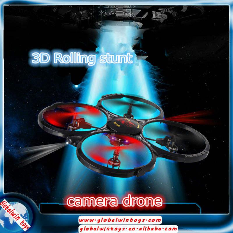 GW-TLH-X4C 2.4G 6axis 4 canales modelo 3D <span class=keywords><strong>rc</strong></span> flycam kit FPV cámara avión teledirigido