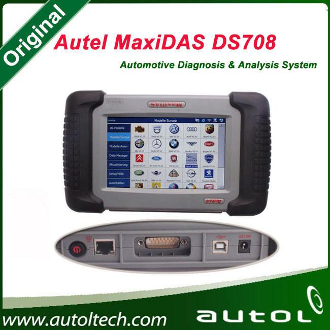 2015 Original <span class=keywords><strong>Autel</strong></span> MaxiDAS DS708 Scanner versão mais recente atualização sem fio on line ferramenta de diagnóstico