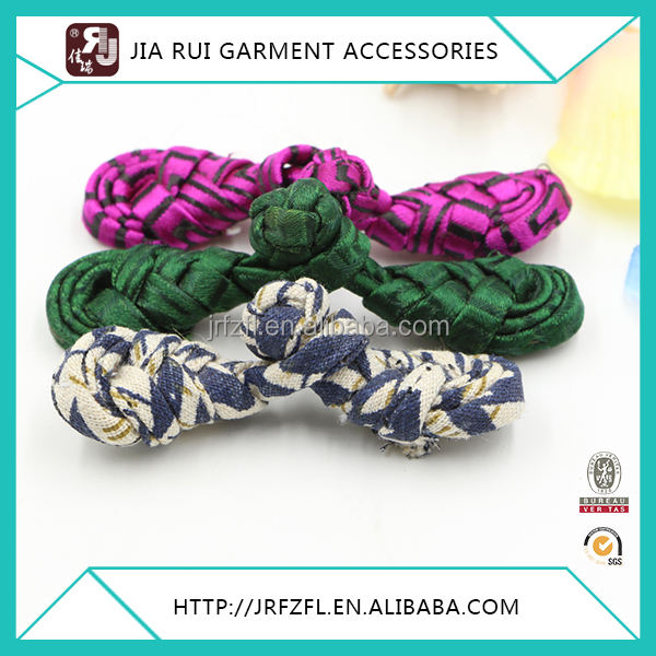 Ajuste VINTAGE variedad tela chino rana botones