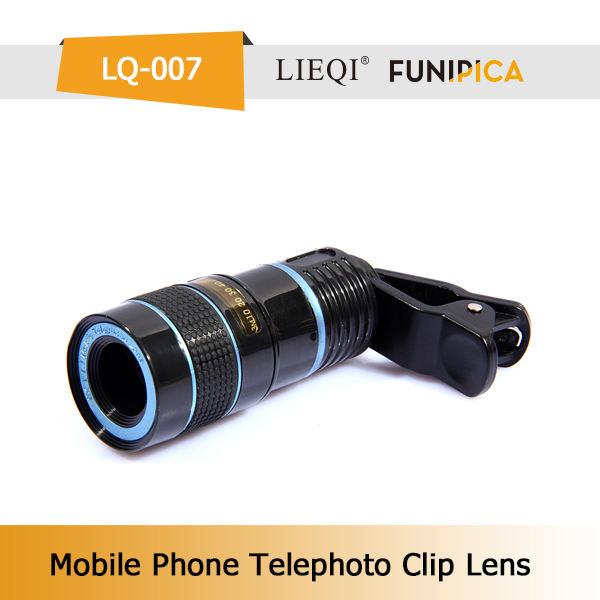 Elettronica obiettivo zoom 8x per iphone telefono cellulare 6 con clip universale lieqi lq-007 fornitore porcellana