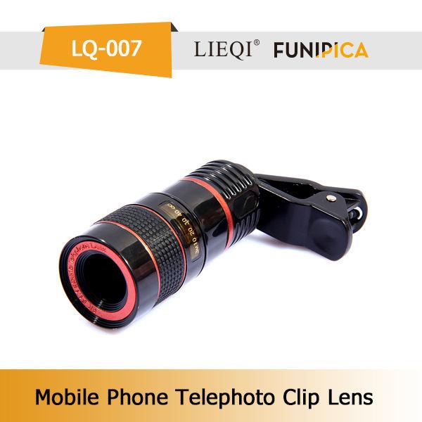 Nuovi prodotti 8x teleobiettivo universale per fotocamera del cellulare lieqi lq-007