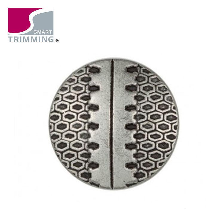 Bajo precio del metal costura Shank botones para la ropa con flores en relieve logo