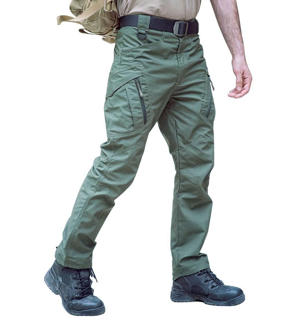 Homme Décontracté En Coton Tactique utilitaire Multi Poche Cargo Militaire Travail Pantalon
