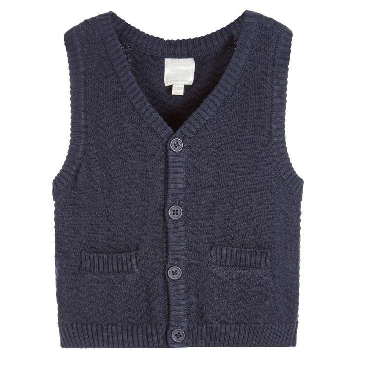 Экологически чистый хлопок вязание для маленьких девочек свитер жилет для осени